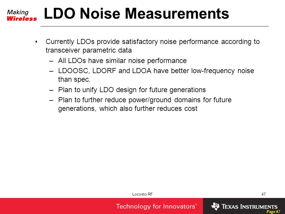 LDO Noise Measurements