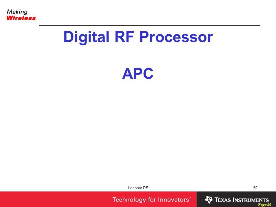 Digital RF Processor APC