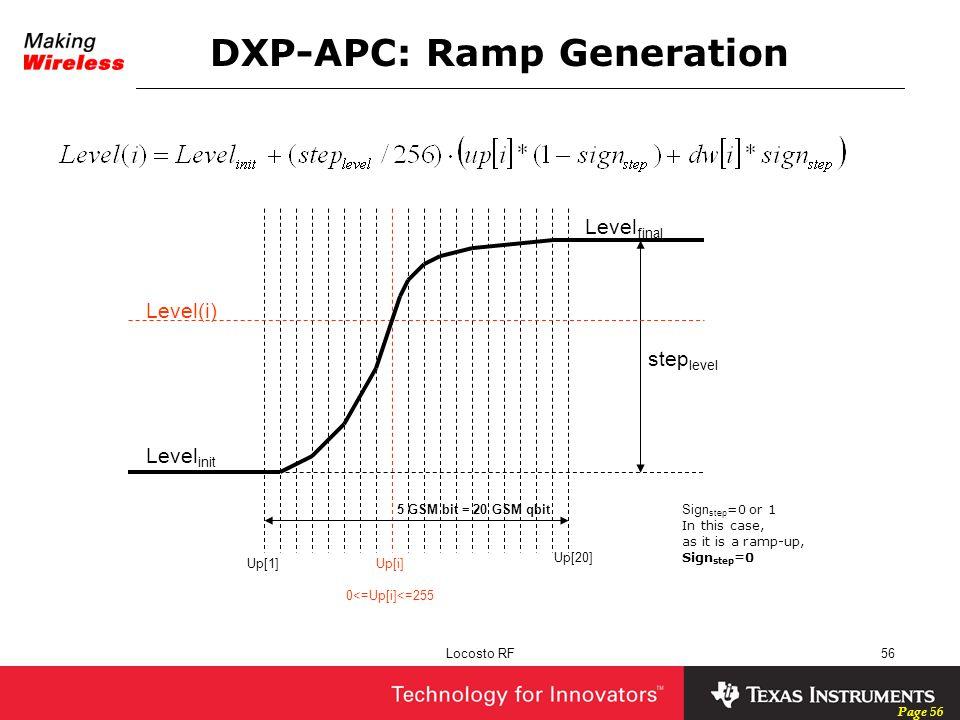 DXP-APC: Ramp Generation