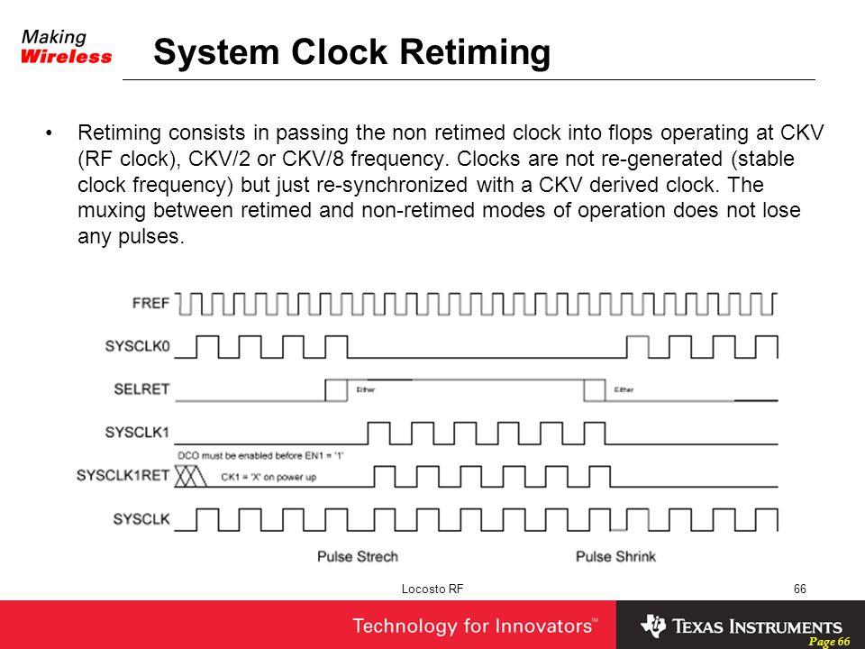System Clock Retiming