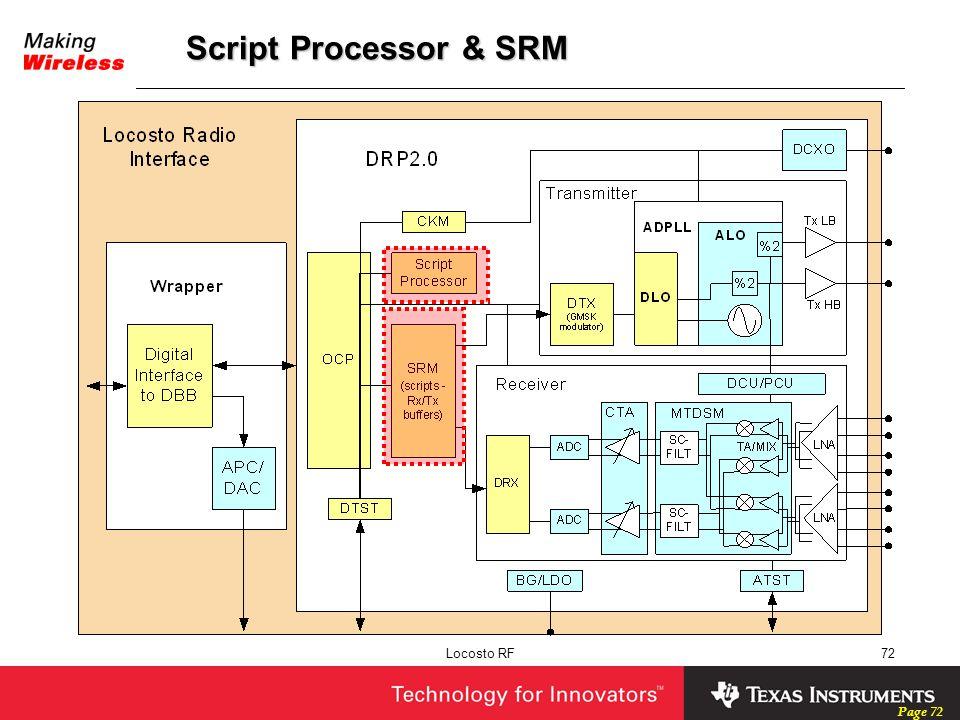 Script Processor & SRM Locosto RF