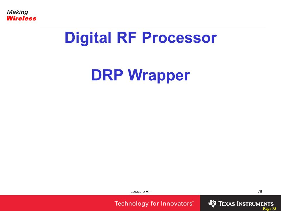 Digital RF Processor DRP Wrapper