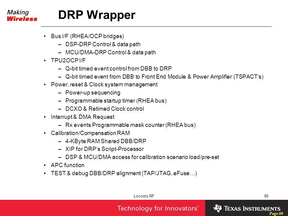 DRP Wrapper Bus I/F (RHEA/OCP bridges) DSP-DRP Control & data path