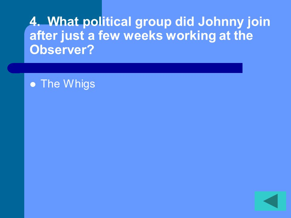 4. What political group did Johnny join after just a few weeks working at the Observer