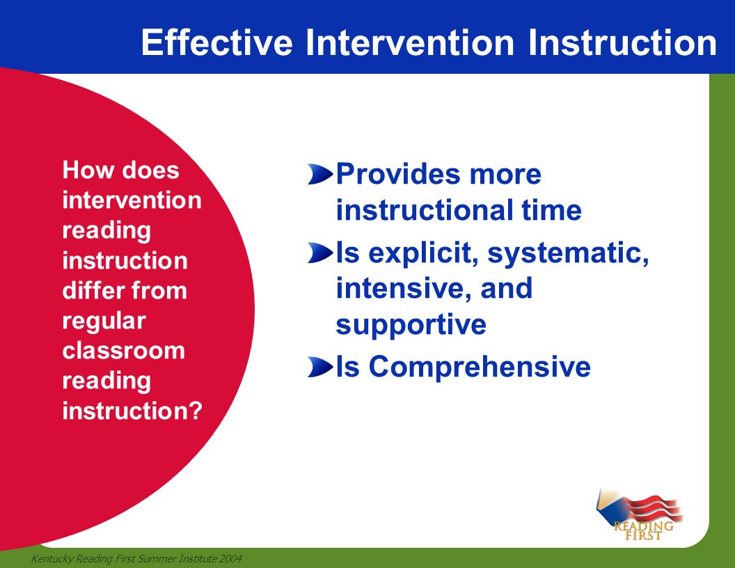 Effective Intervention Instruction