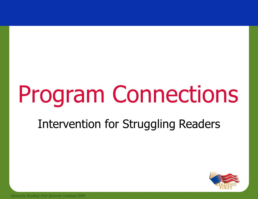 Intervention for Struggling Readers