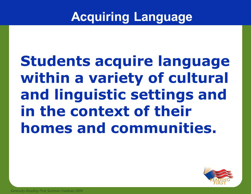 Acquiring Language