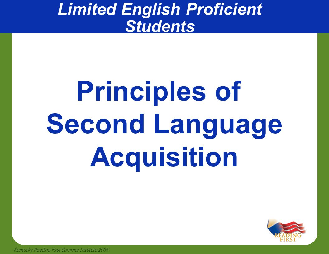 Principles of Second Language Acquisition