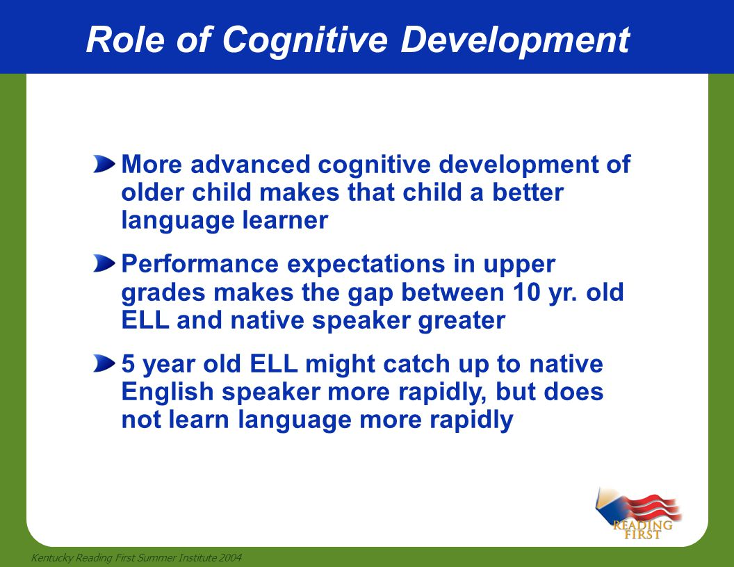 Role of Cognitive Development