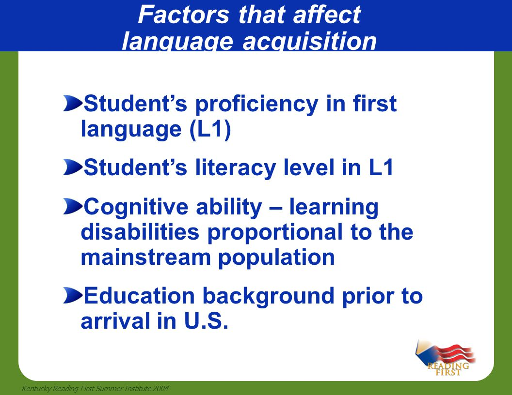 Factors that affect language acquisition