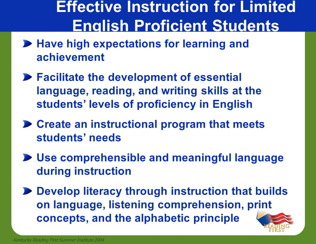 Effective Instruction for Limited English Proficient Students