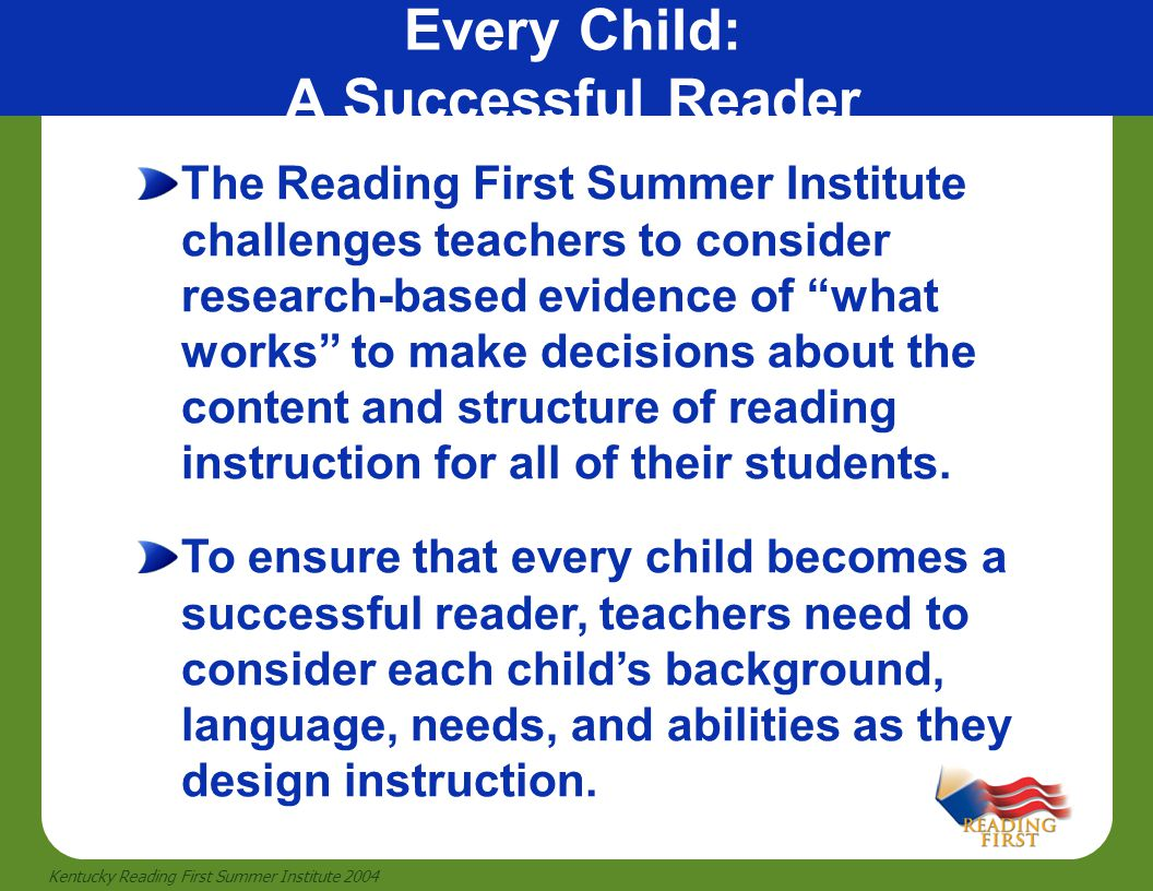 Every Child: A Successful Reader