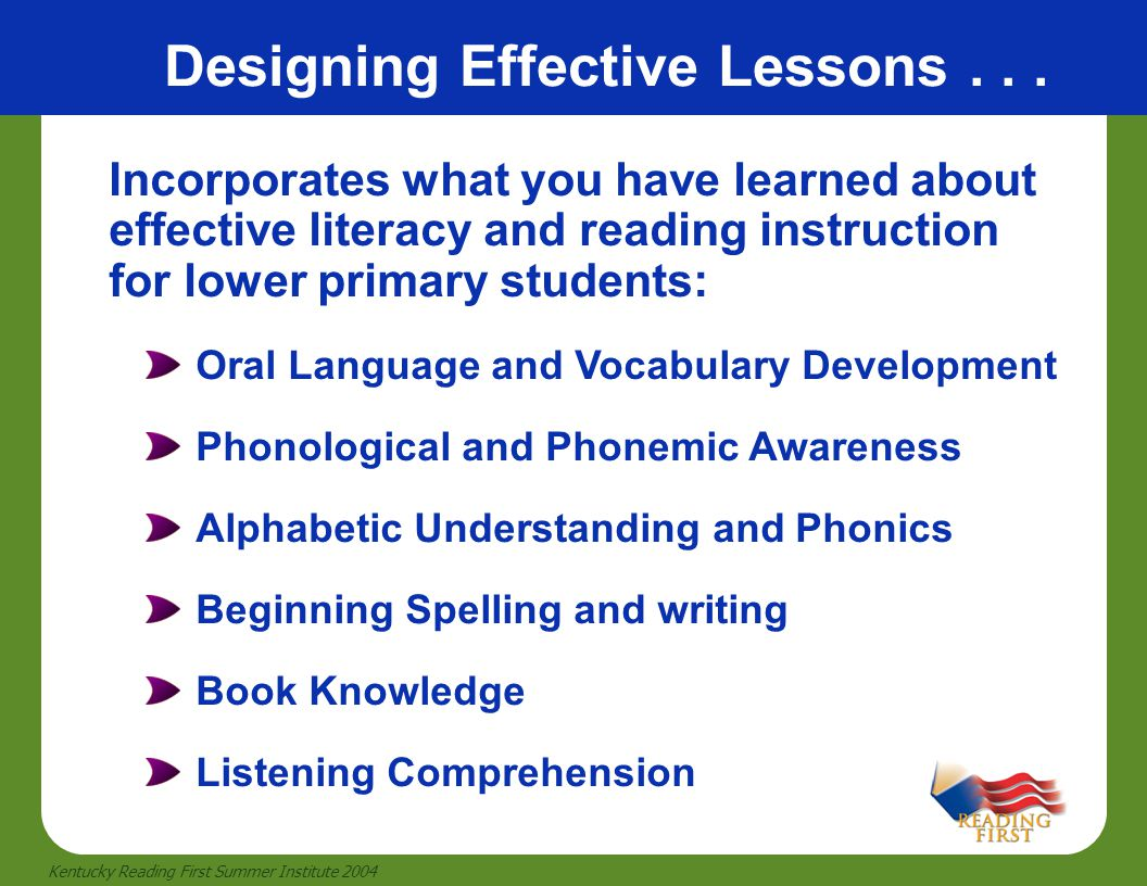 Designing Effective Lessons . . .