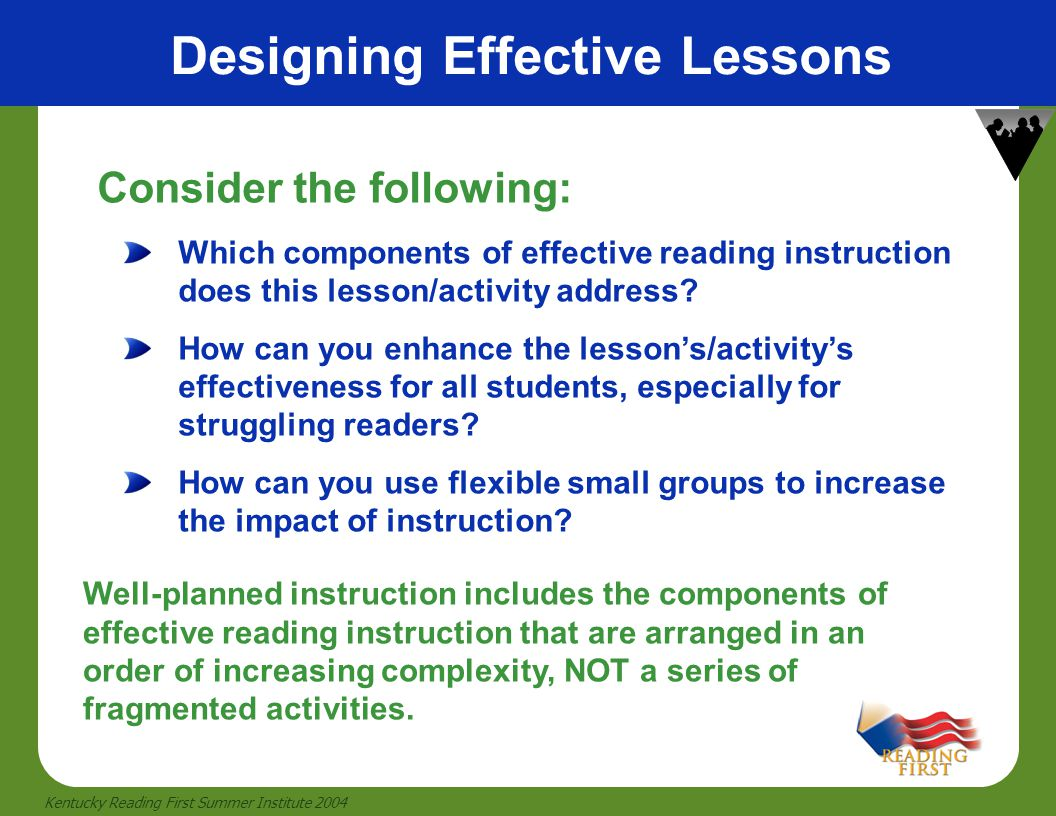 Designing Effective Lessons