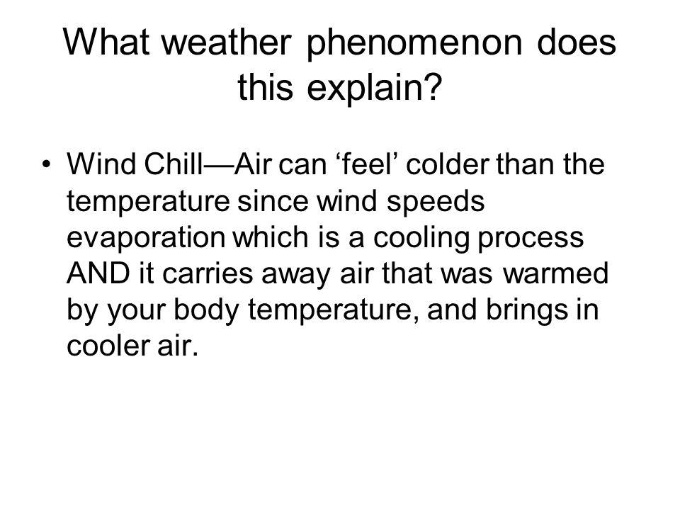 What weather phenomenon does this explain