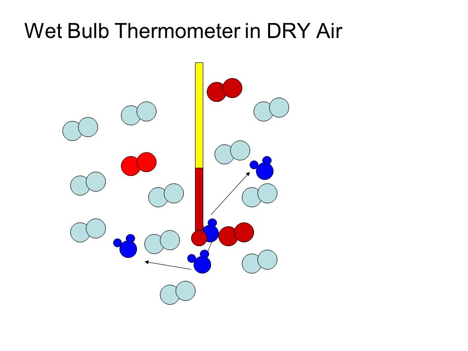 Wet Bulb Thermometer in DRY Air