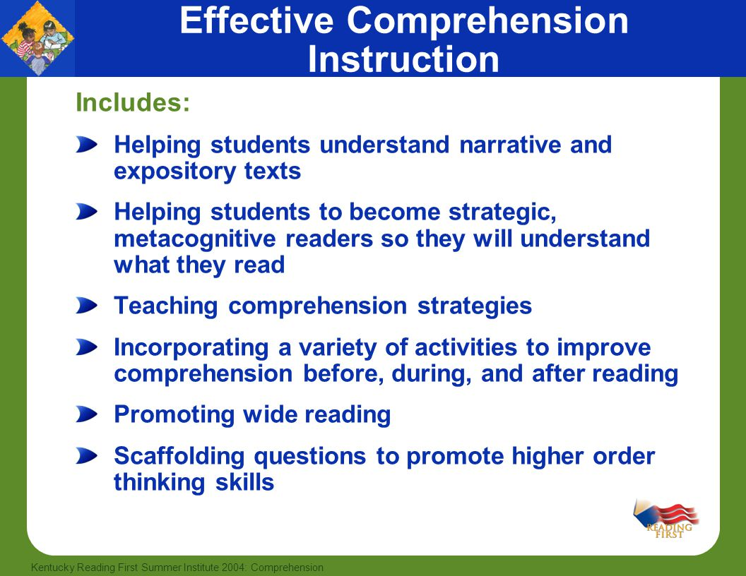 Effective Comprehension Instruction
