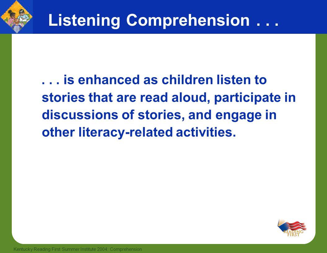 Listening Comprehension . . .