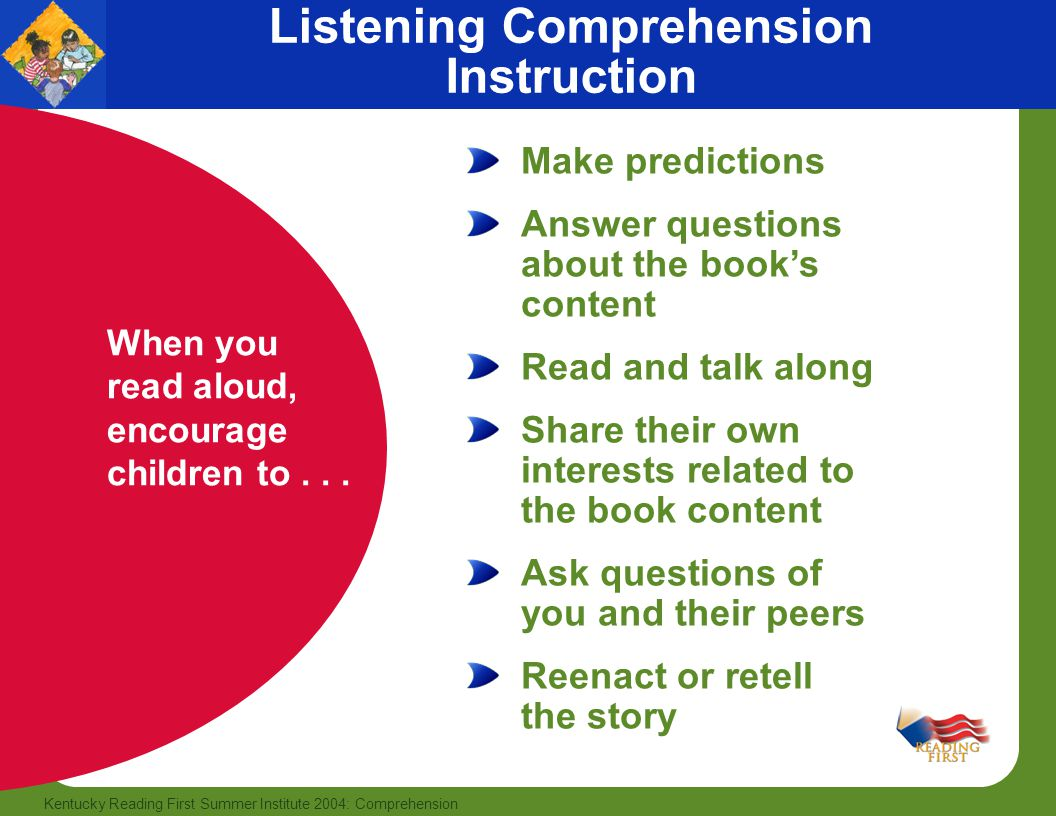 teaching listening review of comprehension book Teaching tools teaching teens  in this article i will briefly focus on how i try to develop listening skills with our young learners who are  animate your.