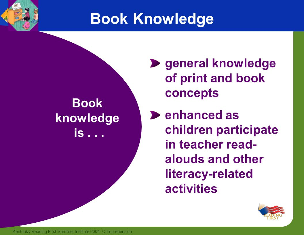 Book Knowledge general knowledge of print and book concepts