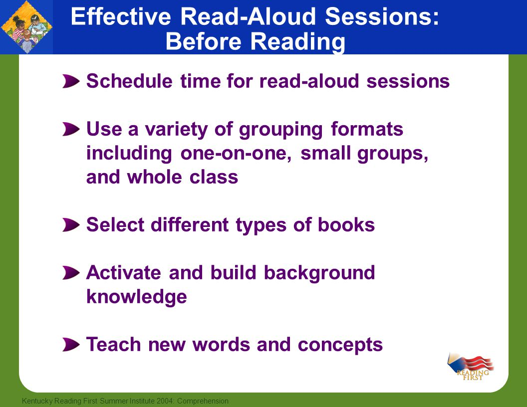 Effective Read-Aloud Sessions: Before Reading