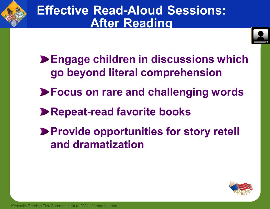 Effective Read-Aloud Sessions: After Reading