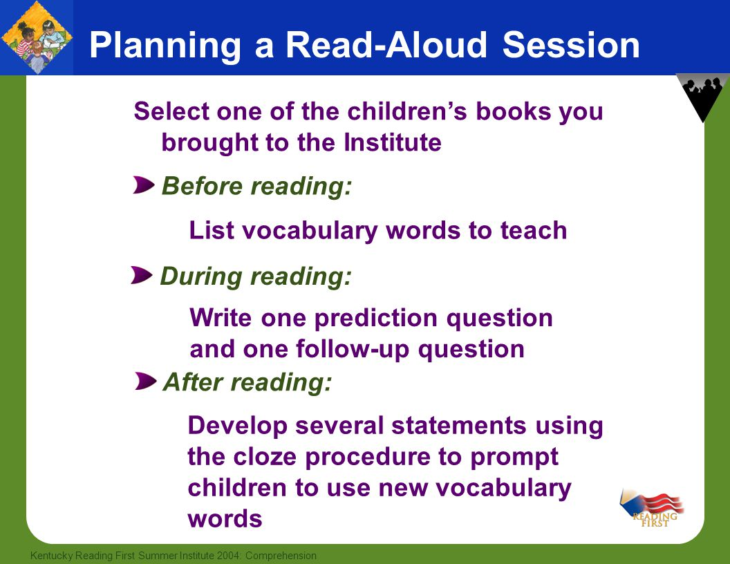 Planning a Read-Aloud Session