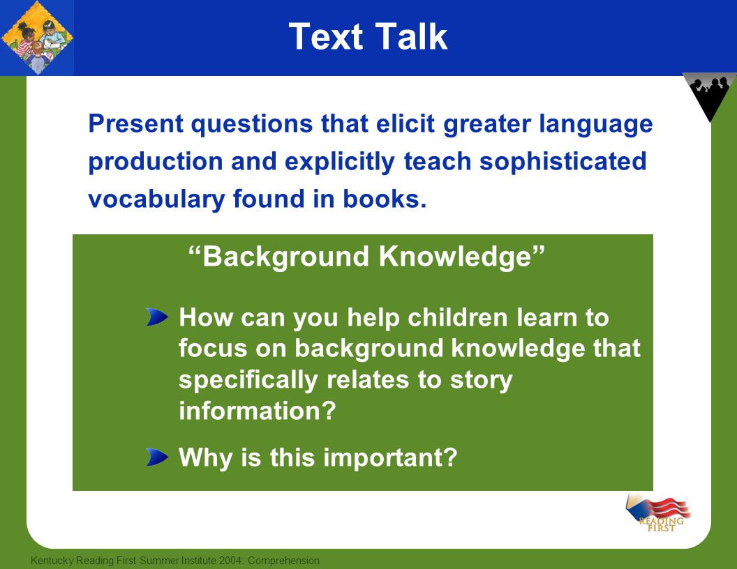 Text Talk Background Knowledge