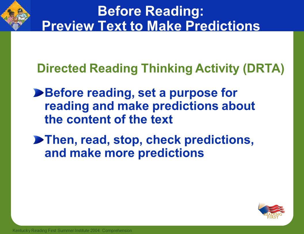Before Reading: Preview Text to Make Predictions