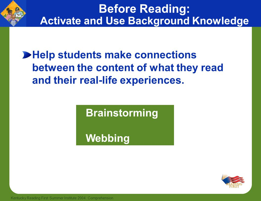 Before Reading: Activate and Use Background Knowledge