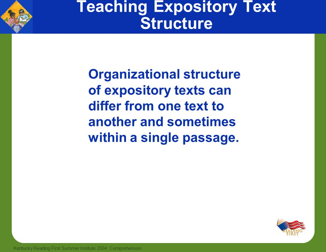 Teaching Expository Text Structure