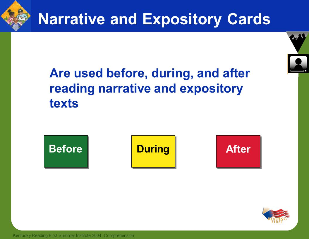 Narrative and Expository Cards