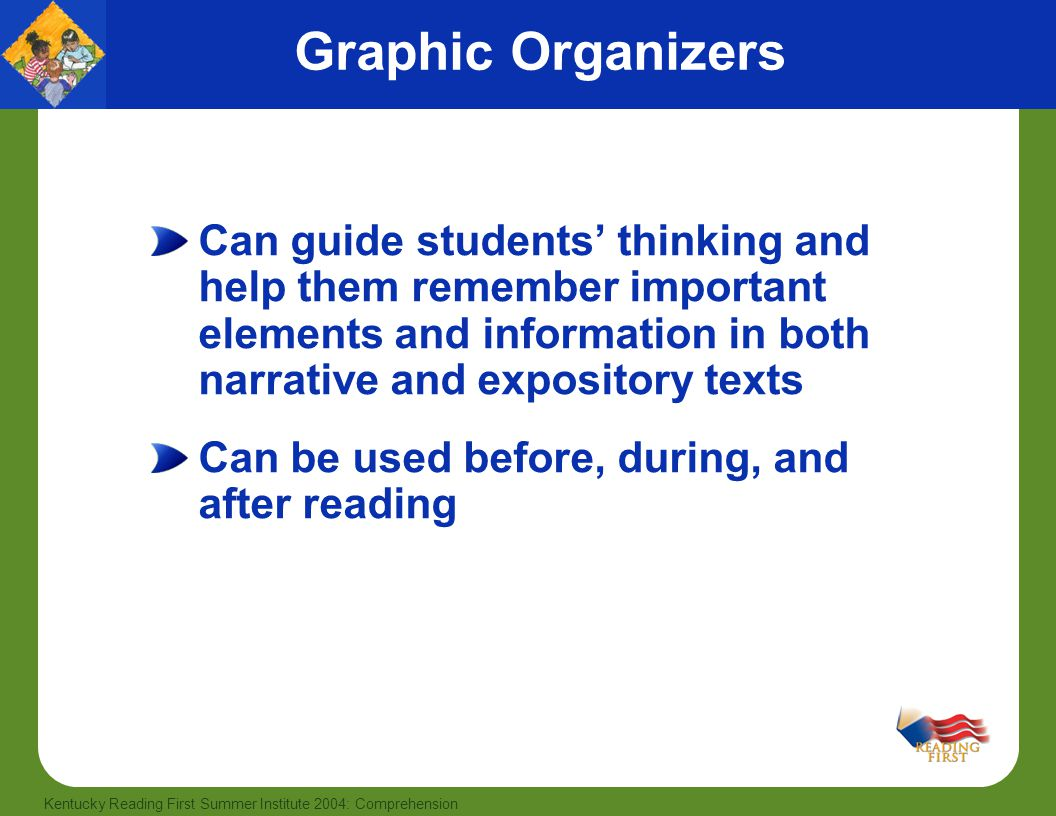 describe strategies to develop activities that facilitate comprehension of narrative expository and  R teach students how to use several research-based reading comprehension strategies r ask follow-up questions to encourage and facilitate discussion will happen at the end of the story have them explain how they decided on their prediction, which encourages them to make inferences about what they are reading.