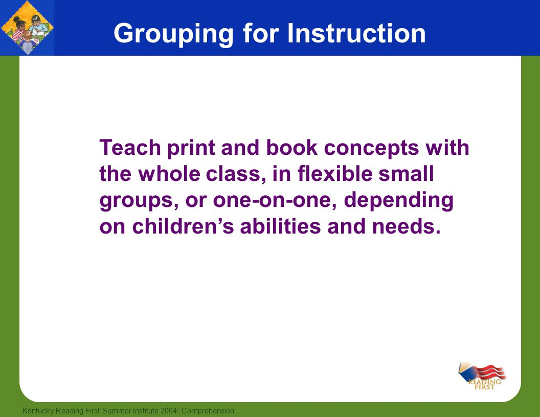 Grouping for Instruction