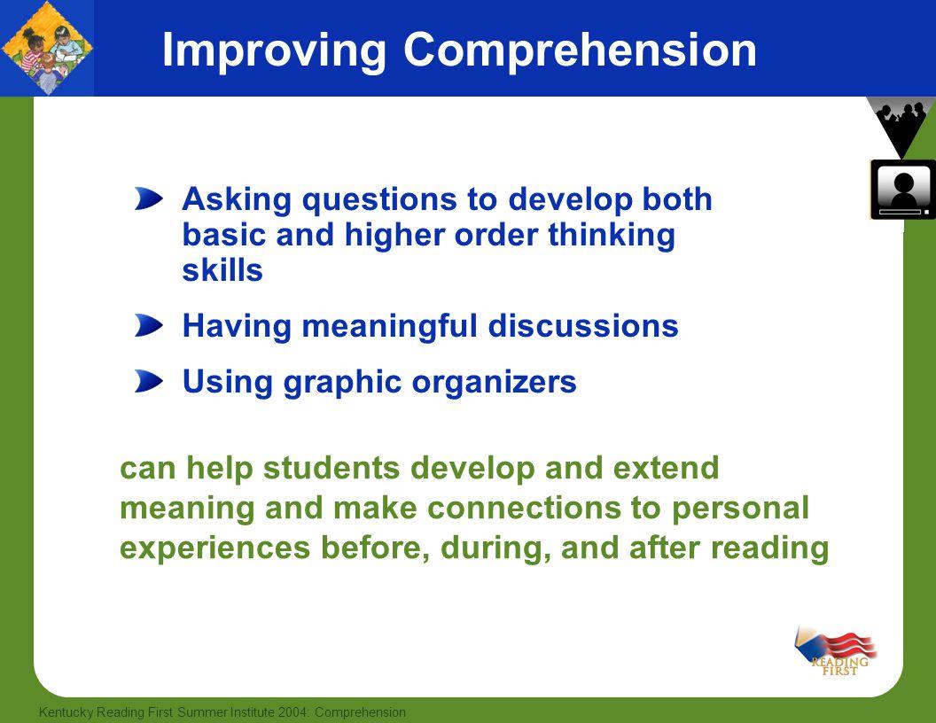 Improving Comprehension
