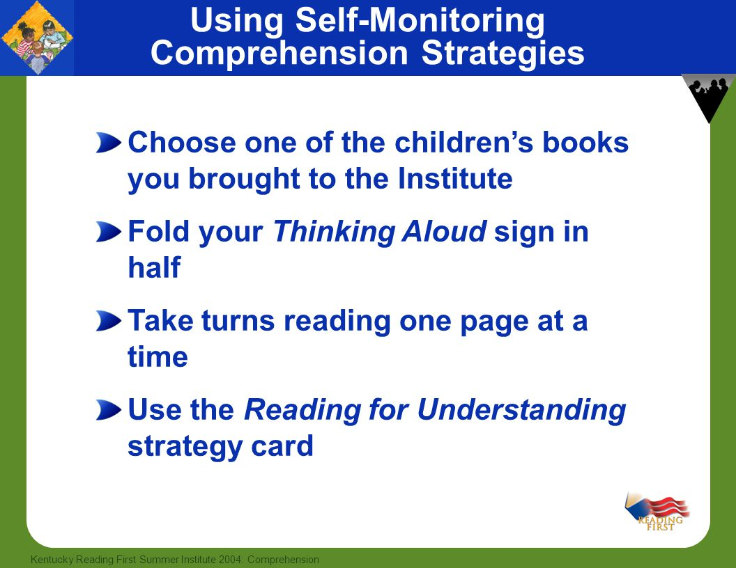 Using Self-Monitoring Comprehension Strategies