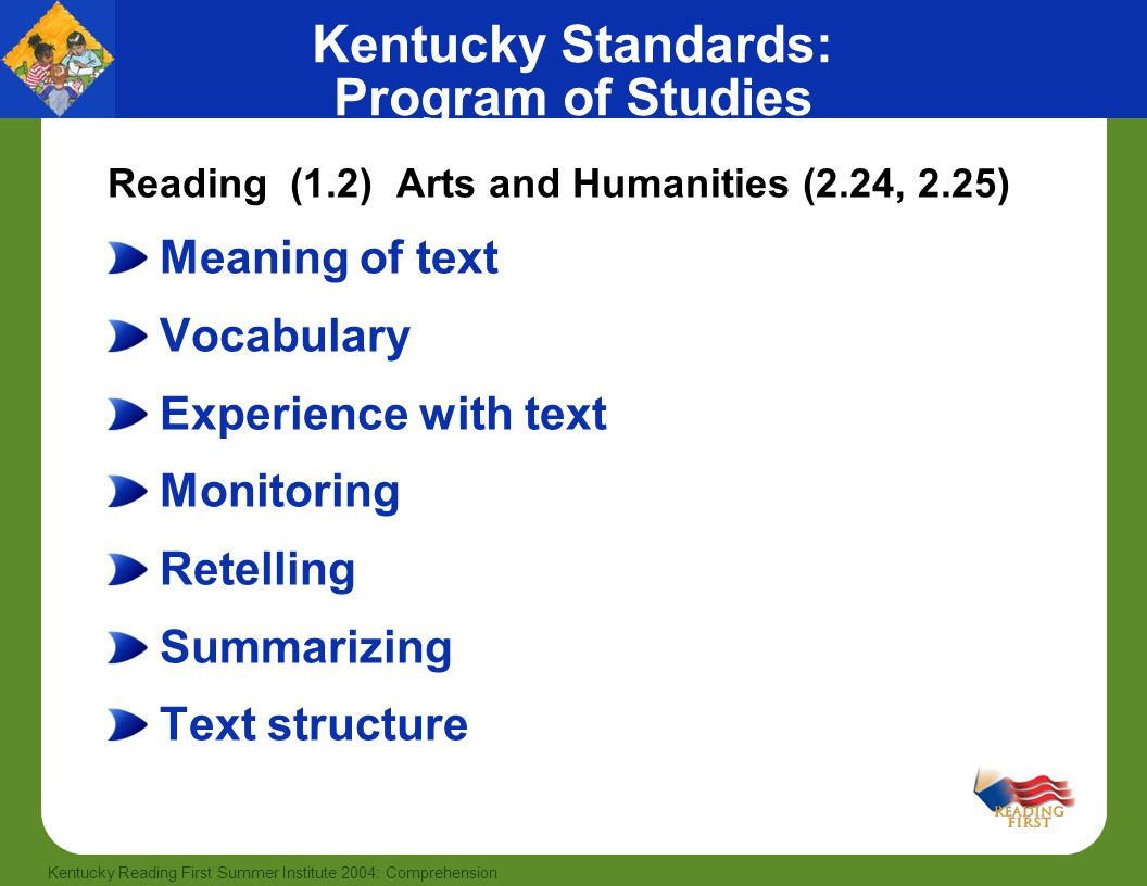 Kentucky Standards: Program of Studies