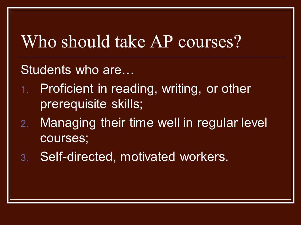 Who should take AP courses