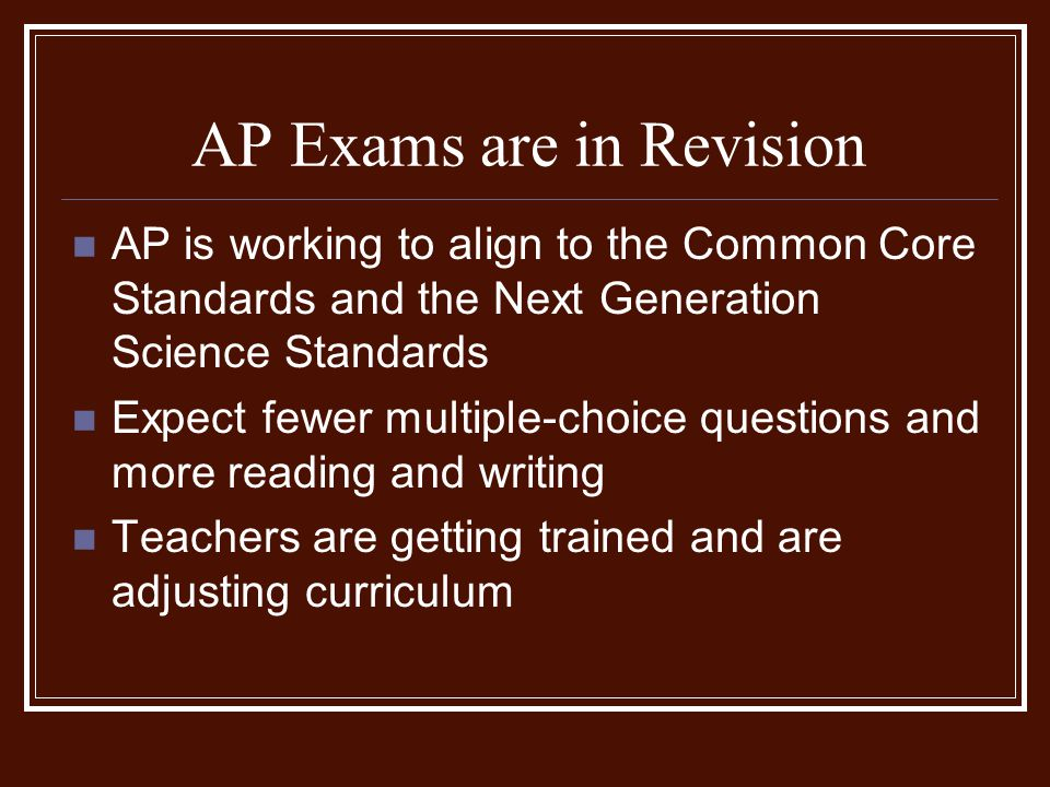 AP Exams are in Revision
