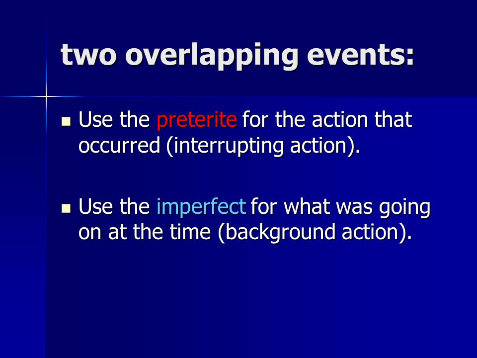 two overlapping events:
