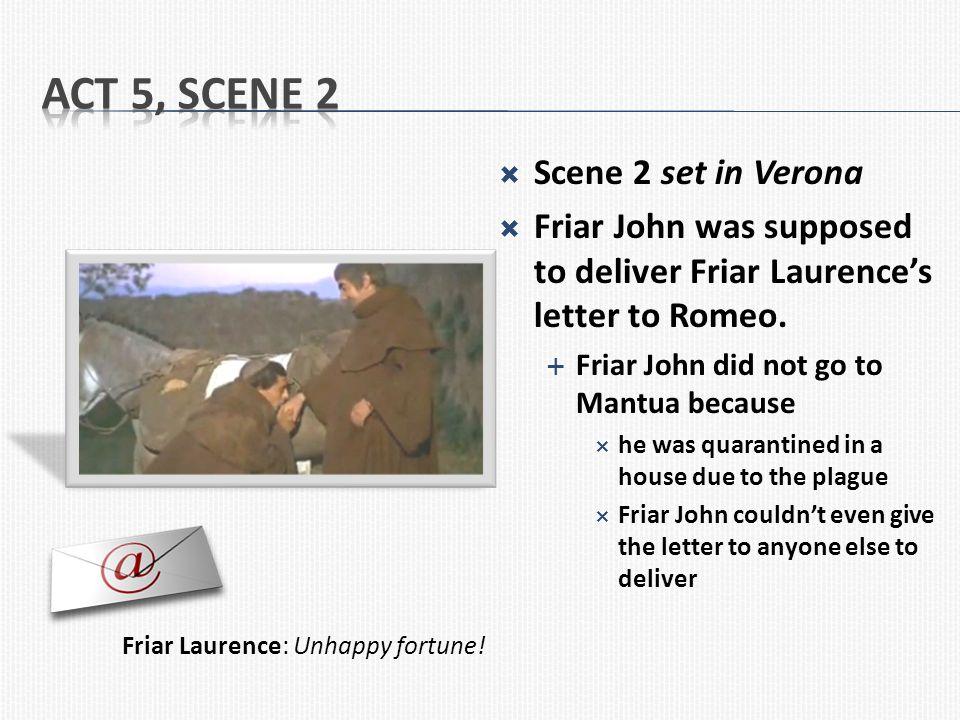 Act 5, Scene 2 Scene 2 set in Verona