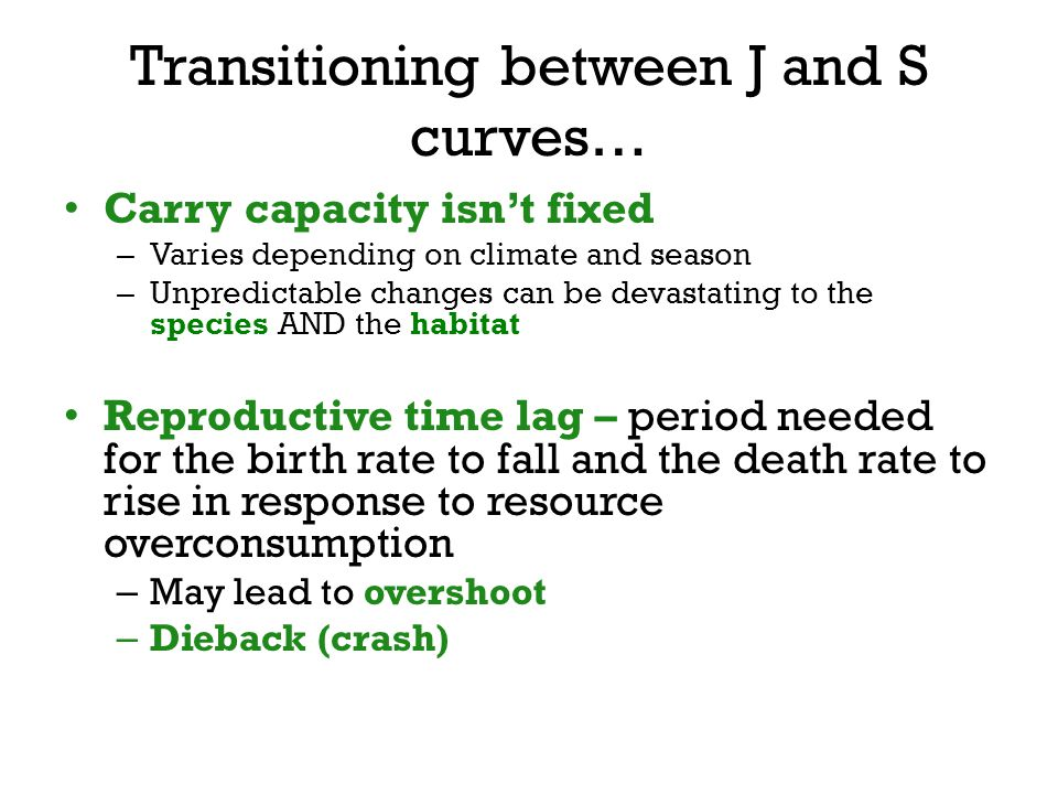 Transitioning between J and S curves…