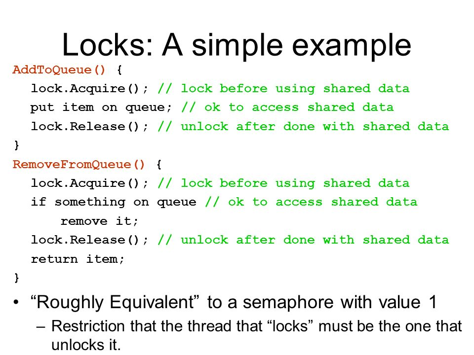 Locks: A simple example