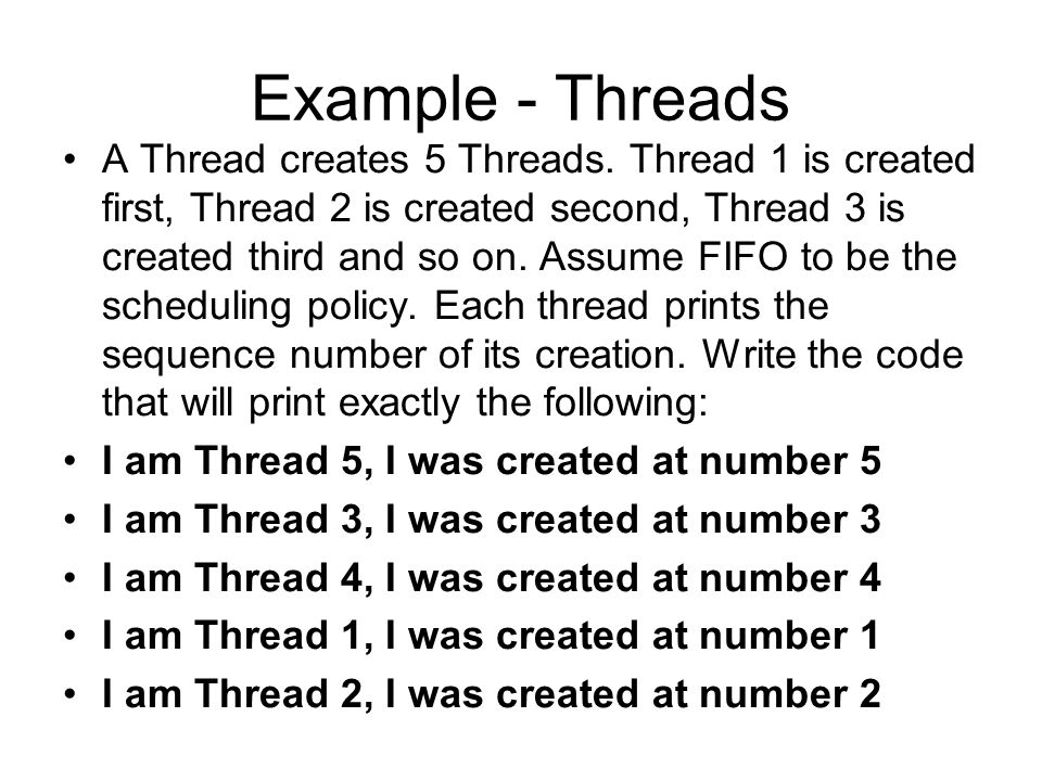 Example - Threads