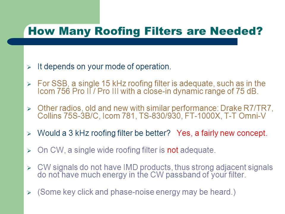 How Many Roofing Filters are Needed