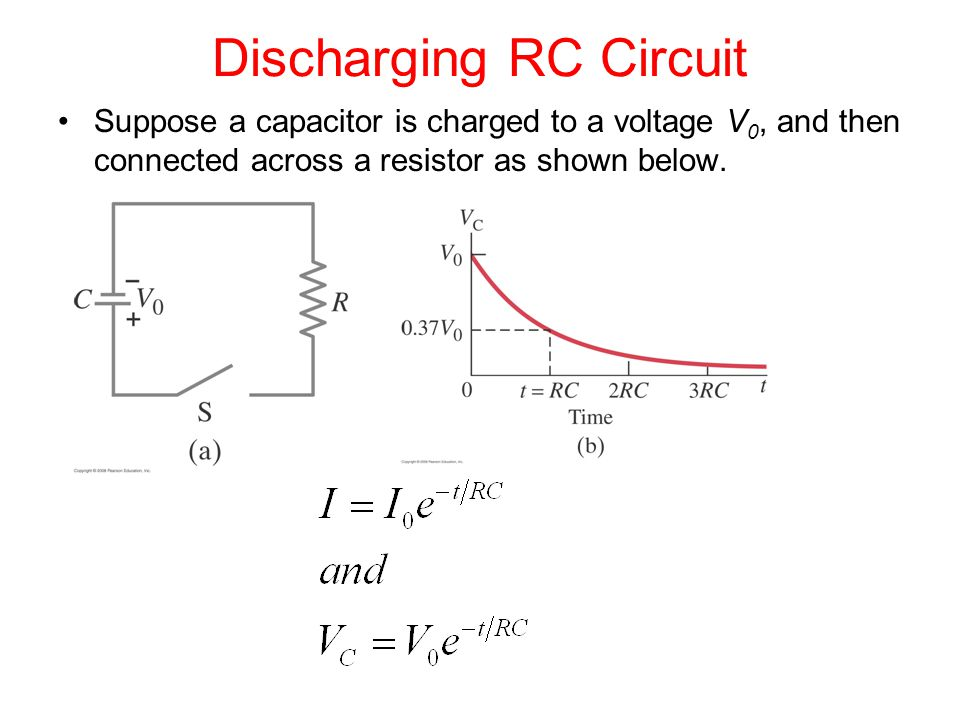 Discharging RC Circuit