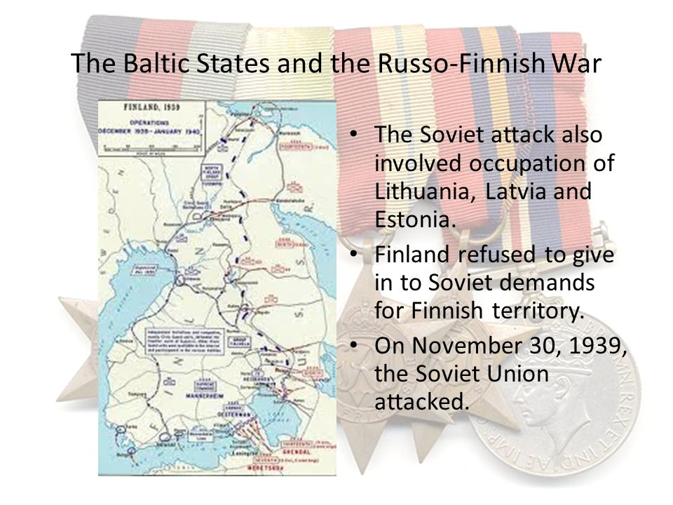 The Baltic States and the Russo-Finnish War