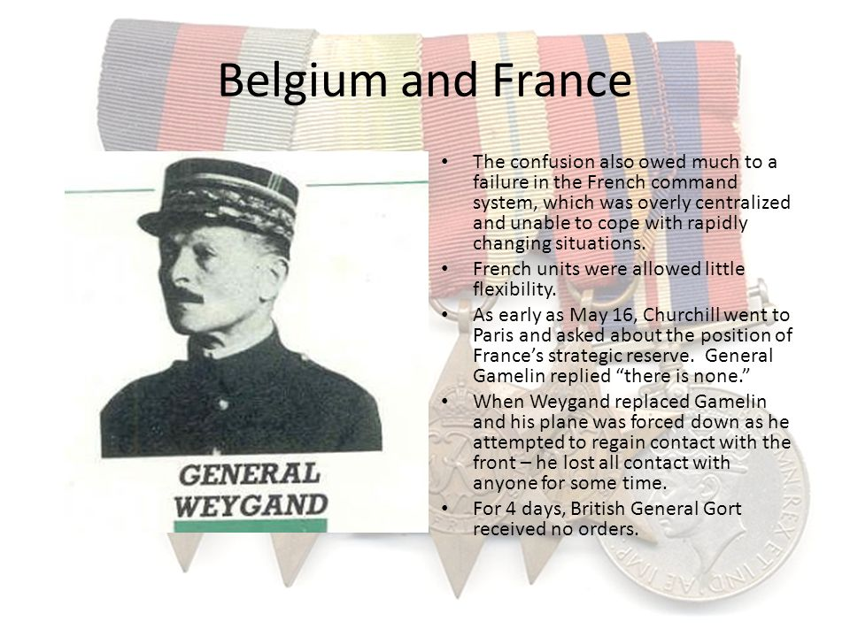 Belgium and France