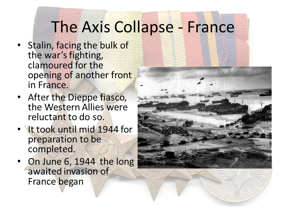 The Axis Collapse - France