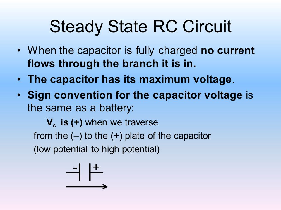Steady State RC Circuit